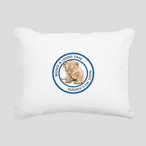 BORN A LIONS FAN Rectangular Canvas Pillow