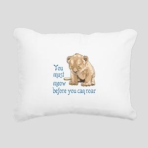 MEOW BEFORE ROAR Rectangular Canvas Pillow