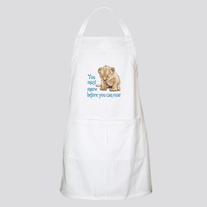 MEOW BEFORE ROAR Apron