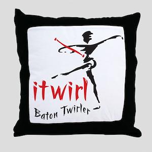 itwirl Baton Twirler Throw Pillow