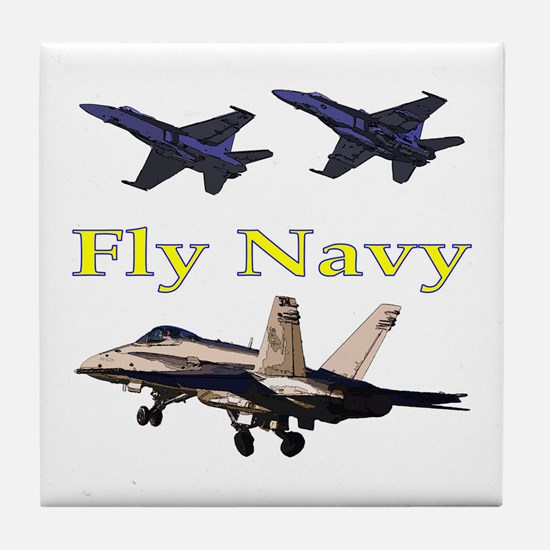 Fly Navy F-18's Tile Coaster