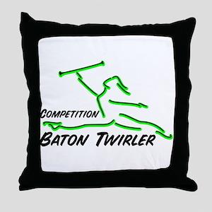 Cometition Baton Twirler Throw Pillow