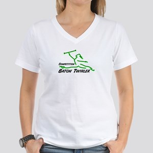 Cometition Baton Twirler Women's V-Neck T-Shirt
