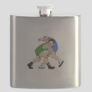 WRESTLERS Flask