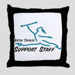 BATON TWIRLER SUPPORT STAFF Throw Pillow