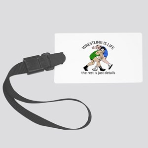 WRESTLING IS LIFE Luggage Tag