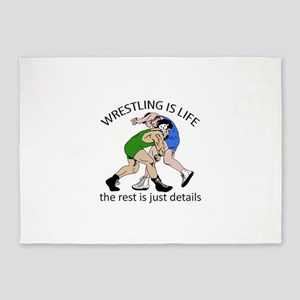 WRESTLING IS LIFE 5'x7'Area Rug