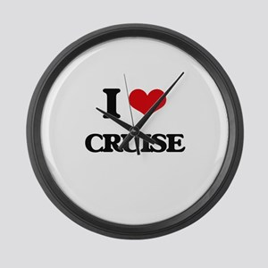 I Love Cruise Large Wall Clock