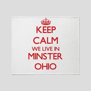 Keep calm we live in Minster Ohio Throw Blanket
