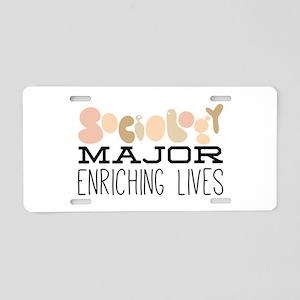 Enriching Lives Aluminum License Plate