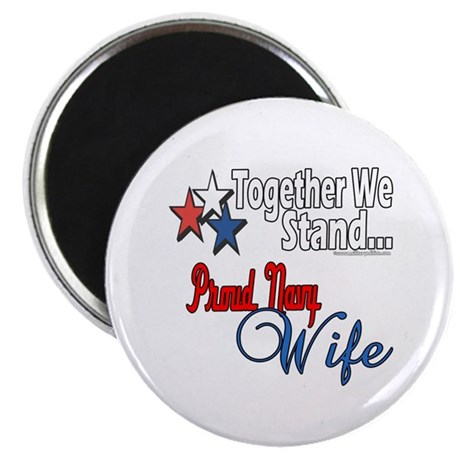 "Proud Navy Wife 2.25"" Magnet (100 pack)"