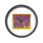 I Survived The Summer Of Love Wall Clock
