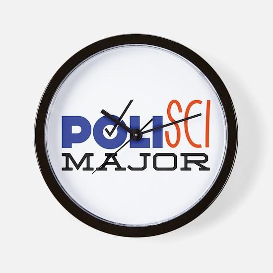 Political Science Major Wall Clock