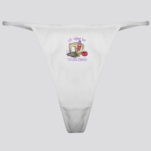ID RATHER BE QUILTING Classic Thong