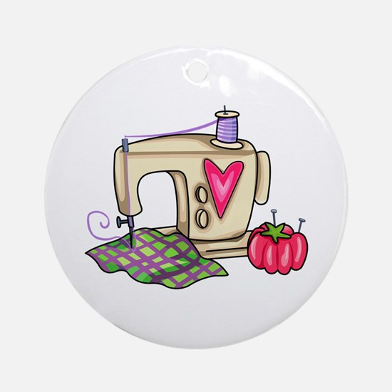 SEWING MACHINE Ornament (Round)