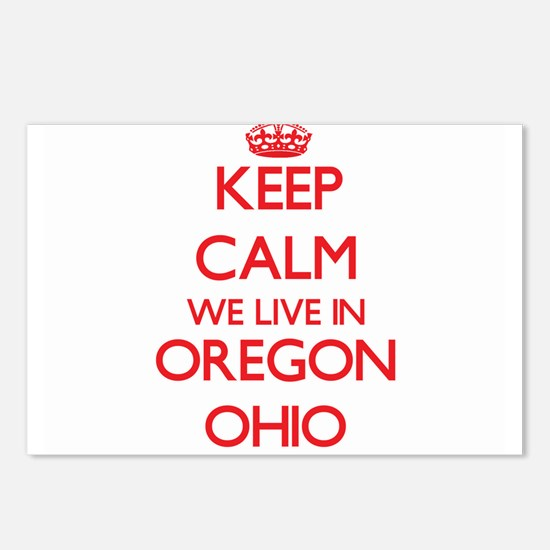Keep calm we live in Oreg Postcards (Package of 8)