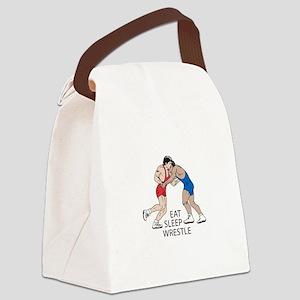 EAT SLEEP WRESTLE Canvas Lunch Bag