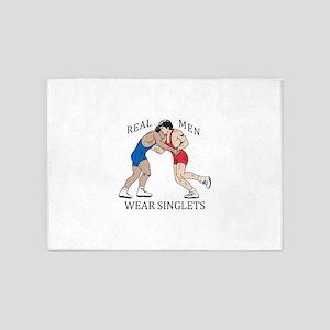 REAL MEN WEAR SINGLETS 5'x7'Area Rug