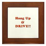 Hang Up & Drive Framed Tile