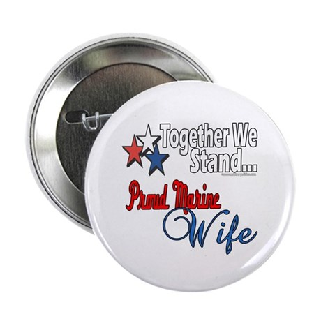 """Proud Marine Wife 2.25"""" Button (100 pack)"""
