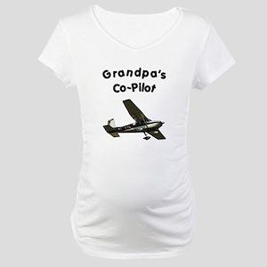 Grandpa's copilot Maternity T-Shirt