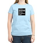 Half the WORLD lives on $2 do Women's Light T-Shir