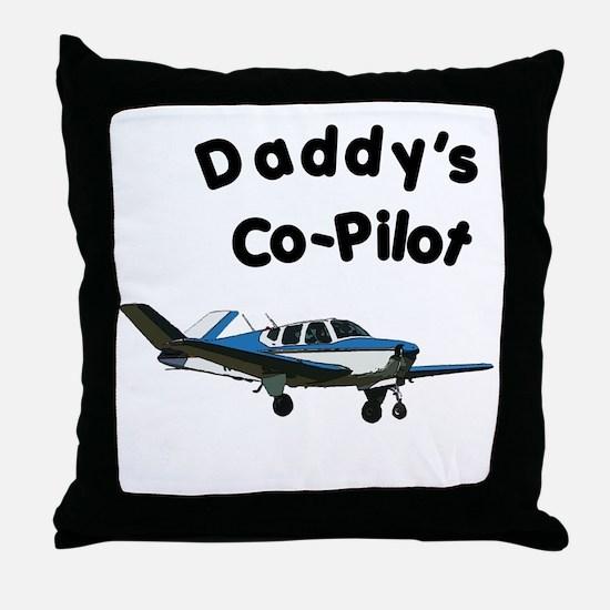 Dad's copilot Throw Pillow