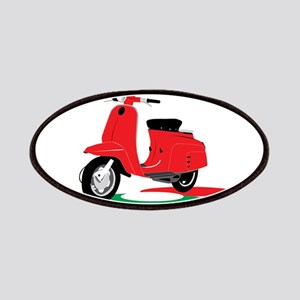 Retro Moped Red Patches