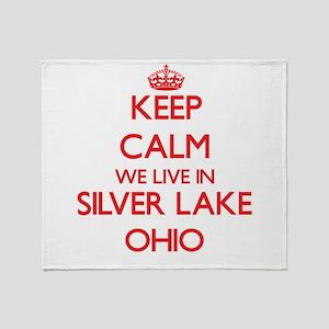Keep calm we live in Silver Lake Ohi Throw Blanket