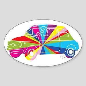 Retro Car Rainbow Sticker
