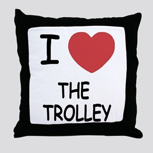 I love The Trolley Throw Pillow