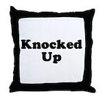 Knocked Up Throw Pillow