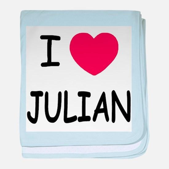 I love Julian baby blanket