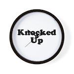 Knocked Up Wall Clock