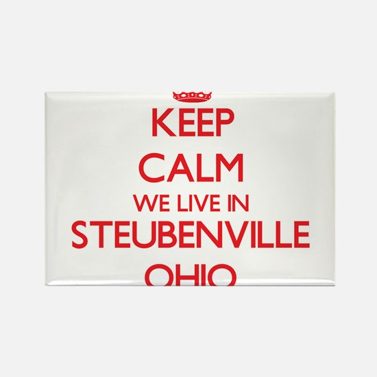 Keep calm we live in Steubenville Ohio Magnets
