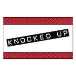 Knocked Up Rectangle Sticker