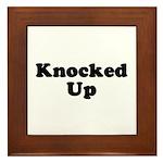 Knocked Up Framed Tile