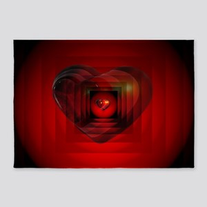 Heart 027 5'x7'Area Rug