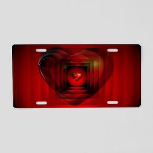 Heart 027 Aluminum License Plate