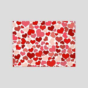 Heart 041 5'x7'Area Rug