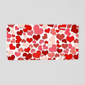 Heart 041 Aluminum License Plate