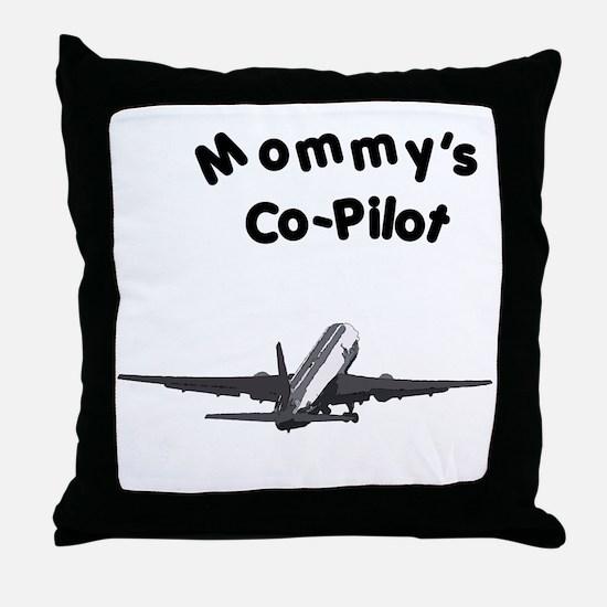 Mom's copilot Throw Pillow