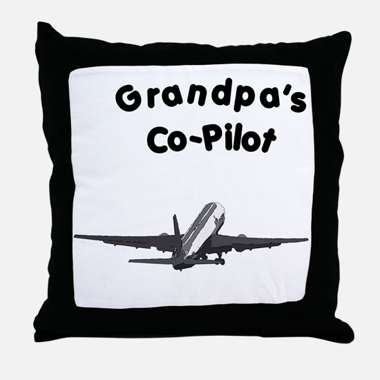 Grandpa's copilot Throw Pillow