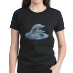 Happy Dolphin Women's Dark T-Shirt