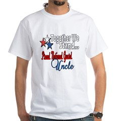Proud National Guard Uncle White T-Shirt