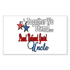 Proud National Guard Uncle Rectangle Decal