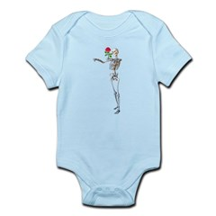 Halloween Skeleton With Rose Infant Bodysuit