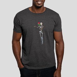 Halloween Skeleton With Rose Dark T-Shirt