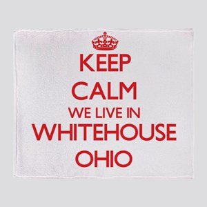 Keep calm we live in Whitehouse Ohio Throw Blanket