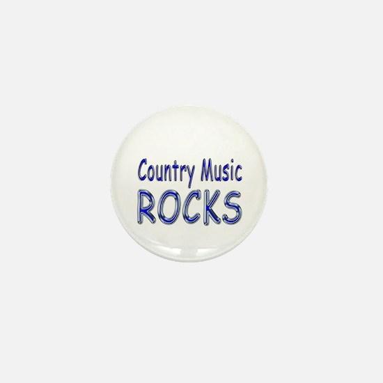 Country Music Rocks Mini Button
